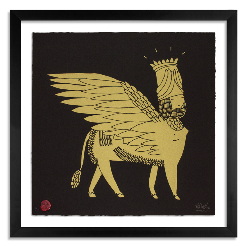 Kid Acne Art - Sphinx - Gold on Black Edition
