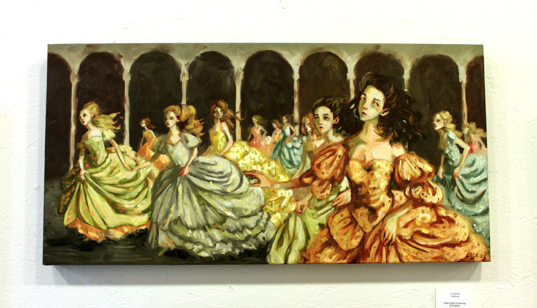 Lacey Bryant Original Art - Flight of The 12 Dancing Princesses