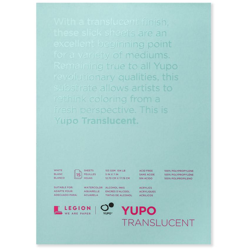 Yupo Polypropylene Pad Translucent 104# 11X14
