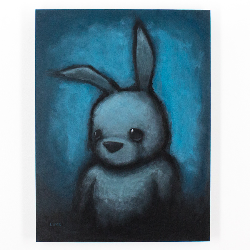 Luke Chueh Original Art - Blue Bunny