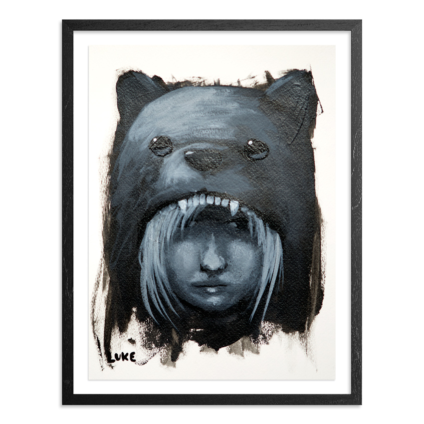 Luke Chueh Original Art - Girl In Bear Hood - Character Study