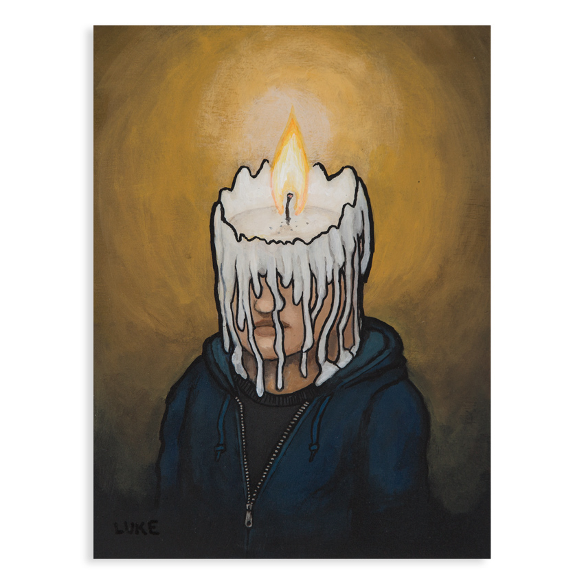Luke Chueh Original Art - Candle Man