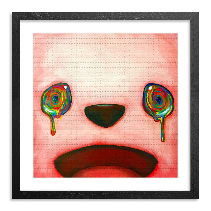 Luke Chueh Art Print - Pink Eyes