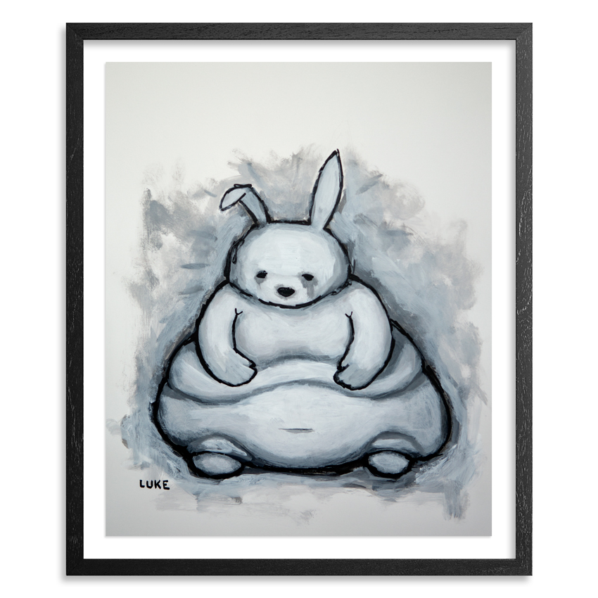 Luke Chueh Original Art - Rabbit (Obese)