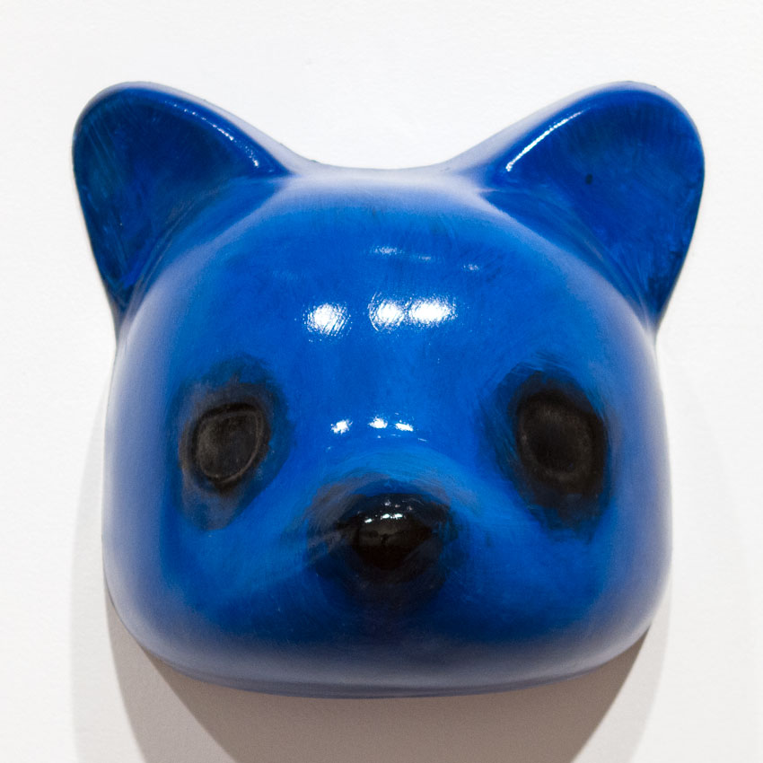 Luke Chueh Art - Vaccuuform Bear Head - Blue