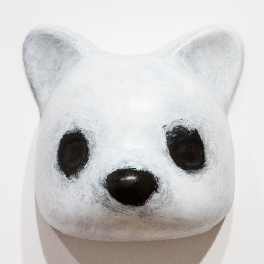 Luke Chueh Art - Vaccuuform Bear Head - White