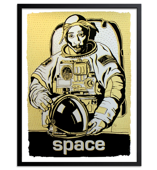 Madsteez Art Print - SpaceWEENpac - Gold Edition