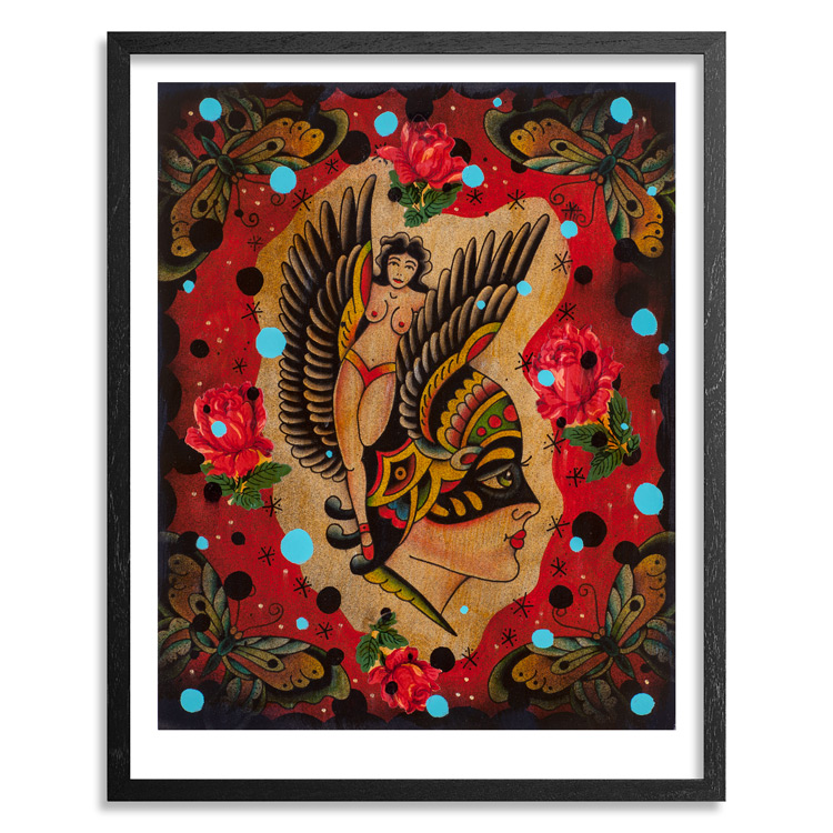 Mario Desa Art - Satellite of Love - Framed