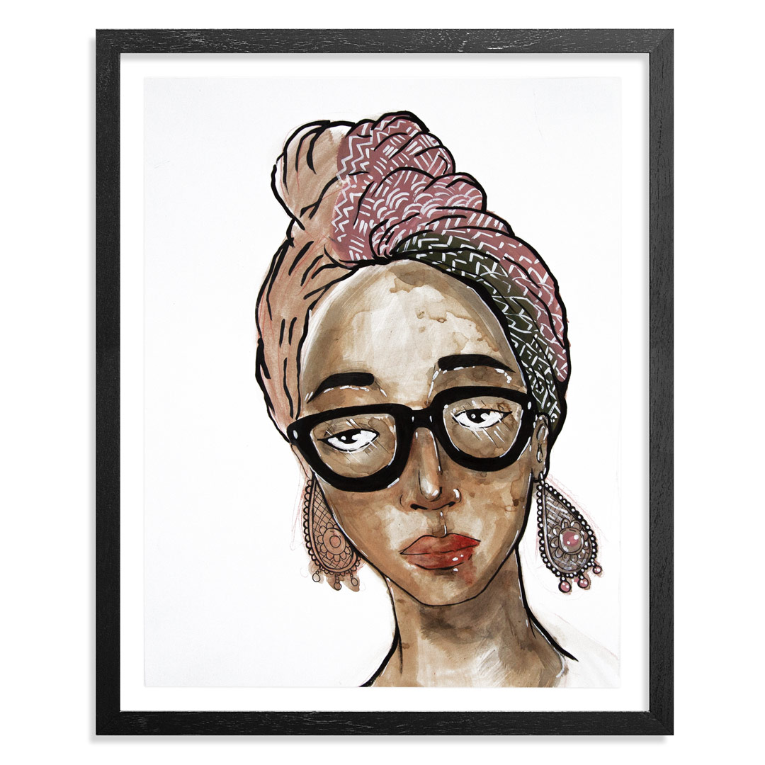 Marlo Broughton Original Art - Turban - Original Artwork