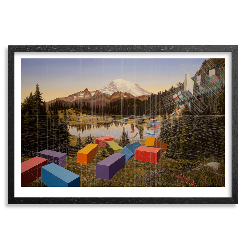 Mary Iverson Art - Tipsoo Lake - Standard Edition - Framed