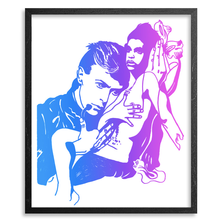 Maya Hayuk Art Print - Farewell My Hero & Prince - Hawaii  Edition<br>