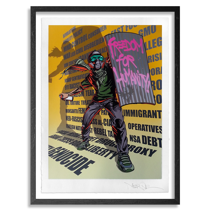 Mear One Art Print - Freedom For Humanity - Standard Edition