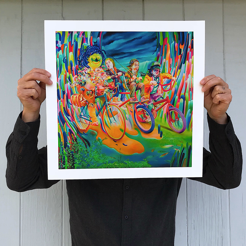 Michael Page Art Print - Fisherman's Ride - Hand-Embellished Edition