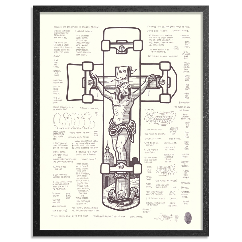 Mike Giant Original Art - Jesus Died (So We Could Ride)