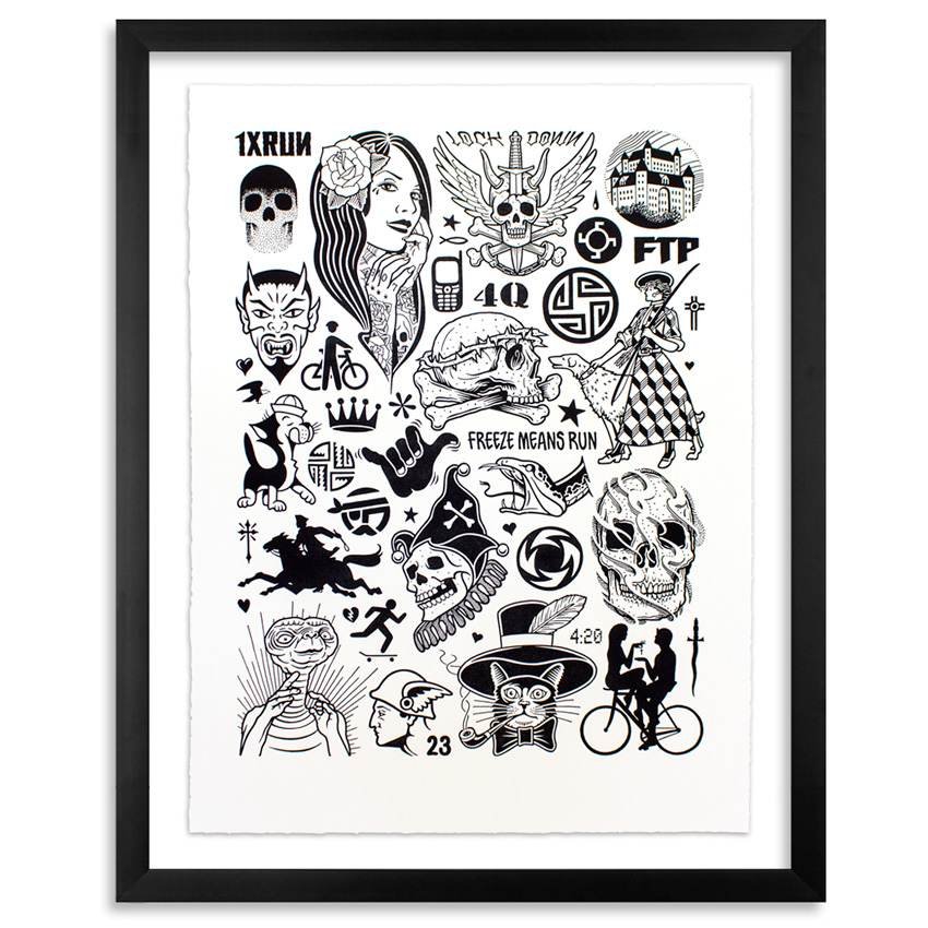 Mike Giant Art Print - Modern Hieroglyphics - Limited Edition Prints