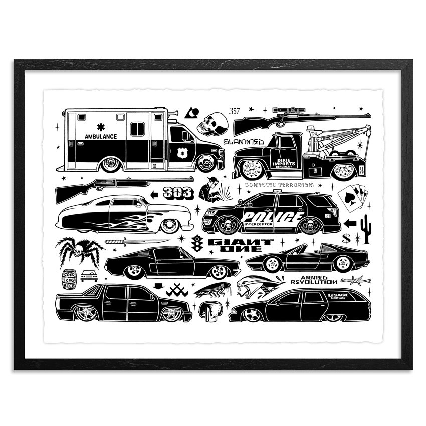 Mike Giant Art Print - Slammed - Limited Edition Prints