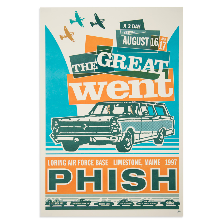 Modern Dog Art - Phish - The Great Went Aug. 16th & 17th, 1997 at Loring Air Force Base Limestone, ME