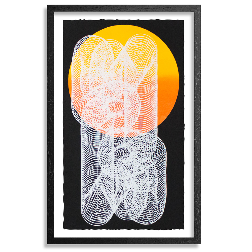 Moneyless Art Print - Alpha And Omega - Black Edition - Framed