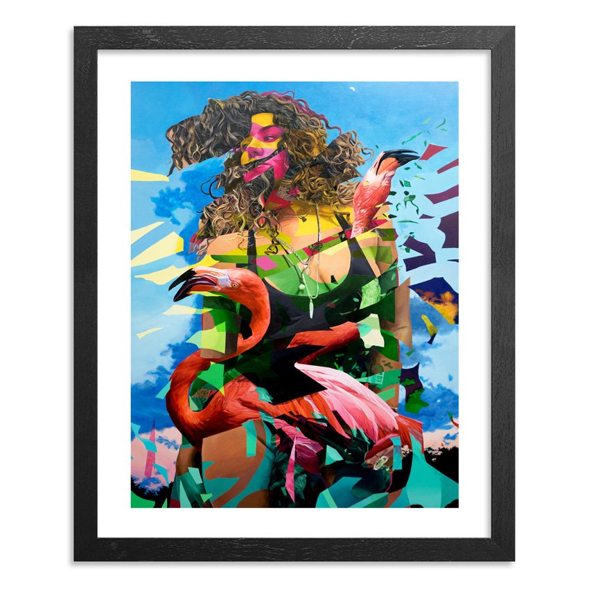 Mwanel Pierre-Louis Art Print - Flamingo Tropical - Limited Edition Prints