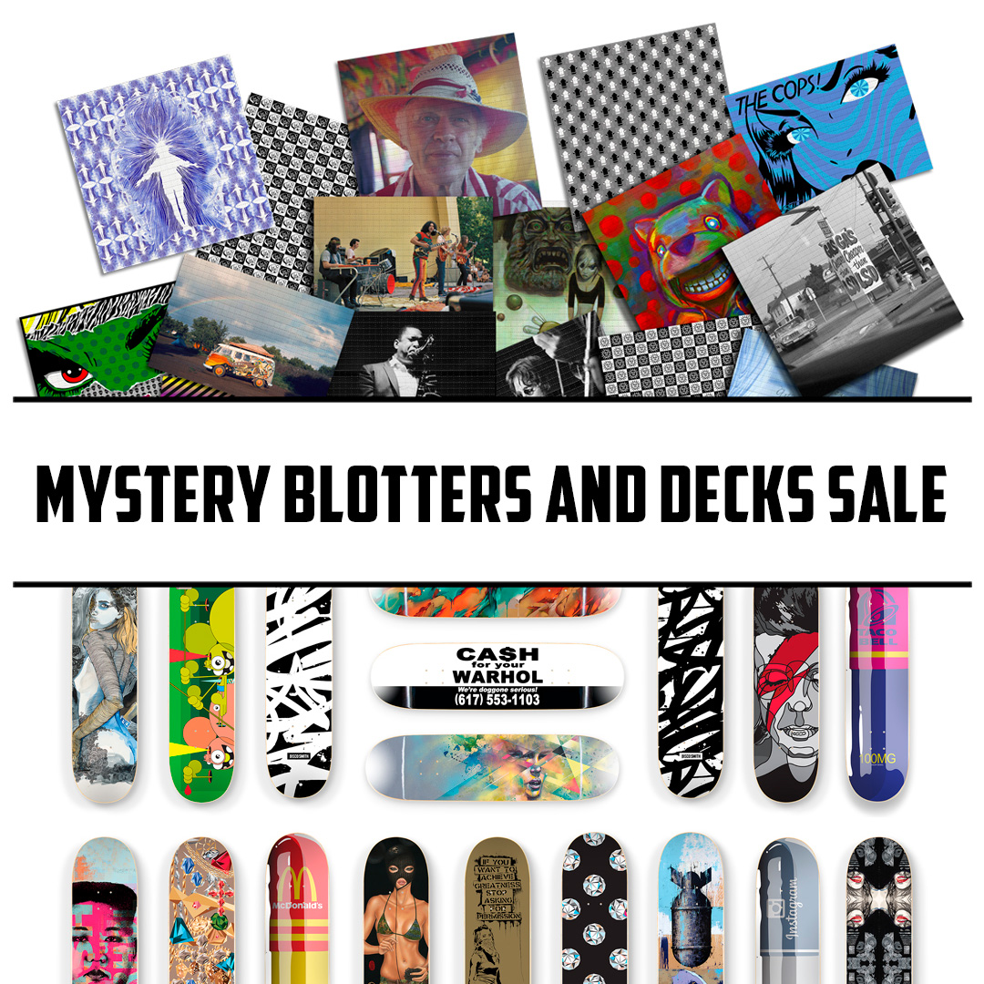 1xRUN Presents Art - Mystery Blotters and Skate Decks