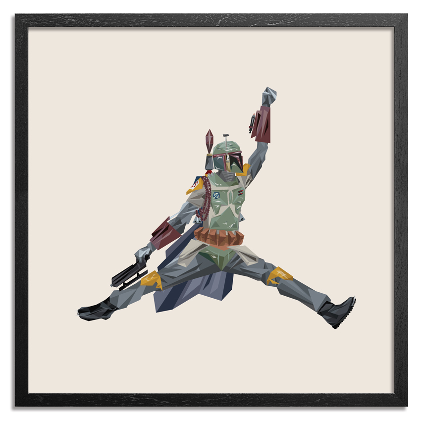 Naturel Art Print - Air Boba Fett - 44 x 44 Inch Edition