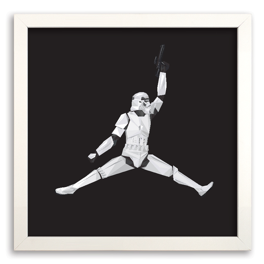 Naturel Art Print - Air Storm Trooper - 17 x 17 Inch Edition