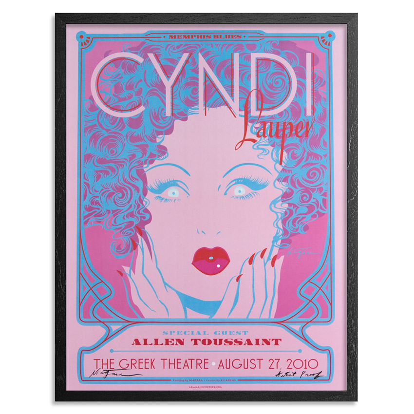 Niagara Art Print - Artist Proof - Cyndi Lauper at The Greek Theatre, August 27, 2010 - Concert Poster