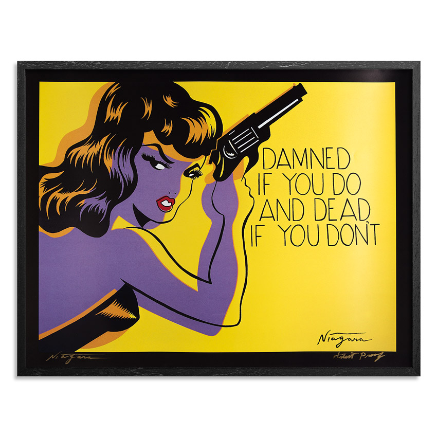 Niagara Art Print - Poster - Damned If You Do and Dead If You Don't - 35 x 27 Inch Poster