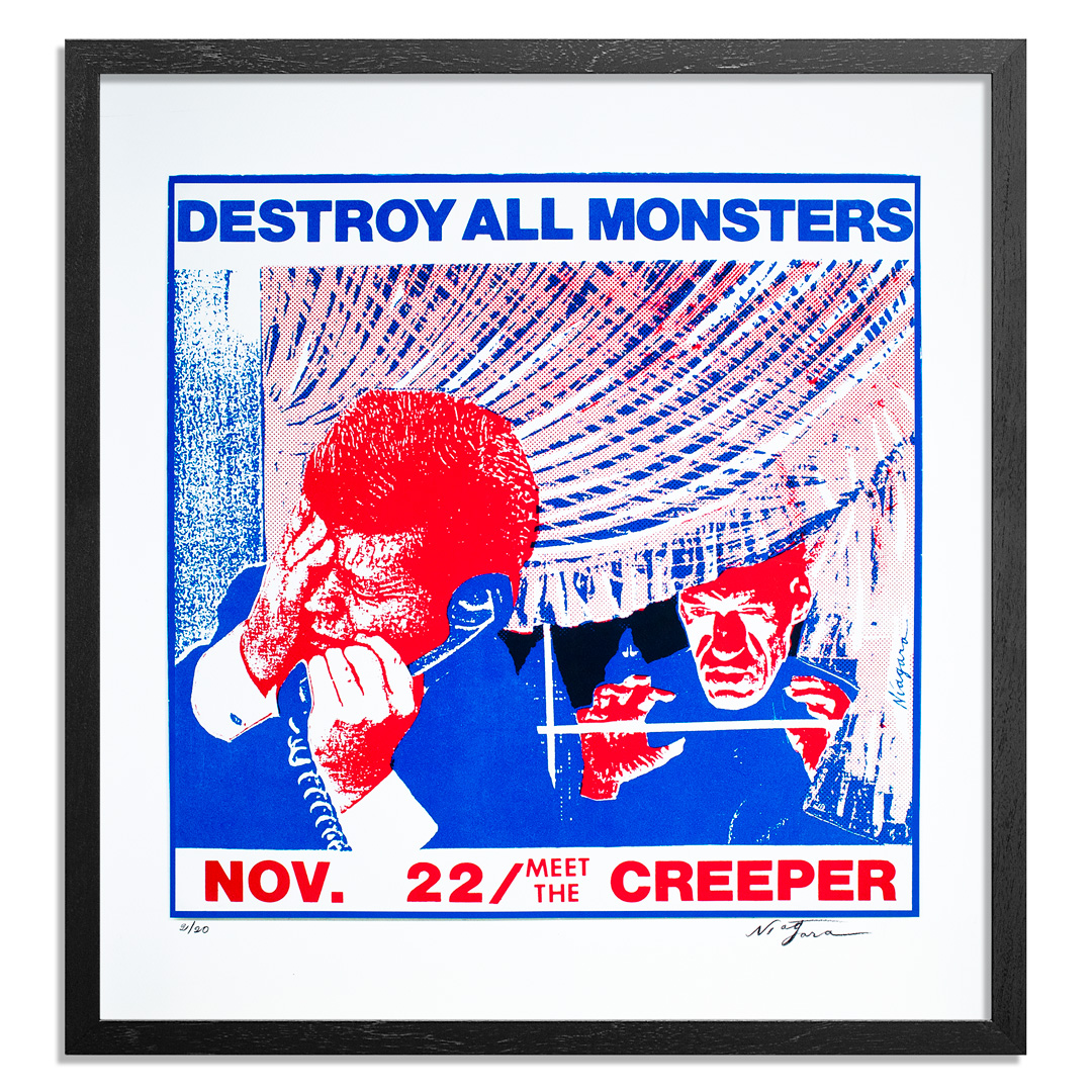 Niagara Art Print - Destroy All Monsters - November 22 - Meet The Creeper