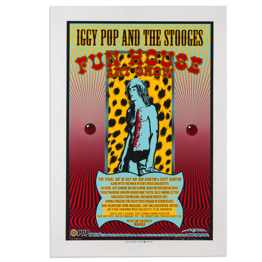 Niagara Art - Fun House Art Show ft. Iggy Pop and the Stooges