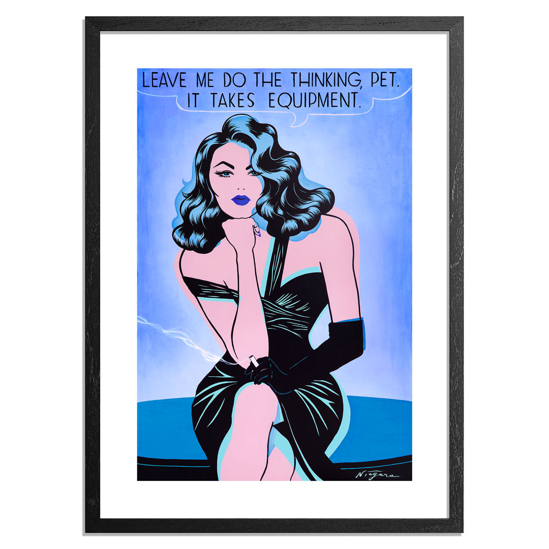 Niagara Art Print - Leave Me Do The Thinking, Pet - Midnight Variant