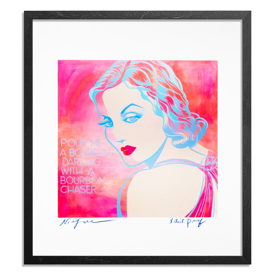 Niagara Art Print - Artist Proof - Pour Me A Bourbon Darling, With A Bourbon Chaser