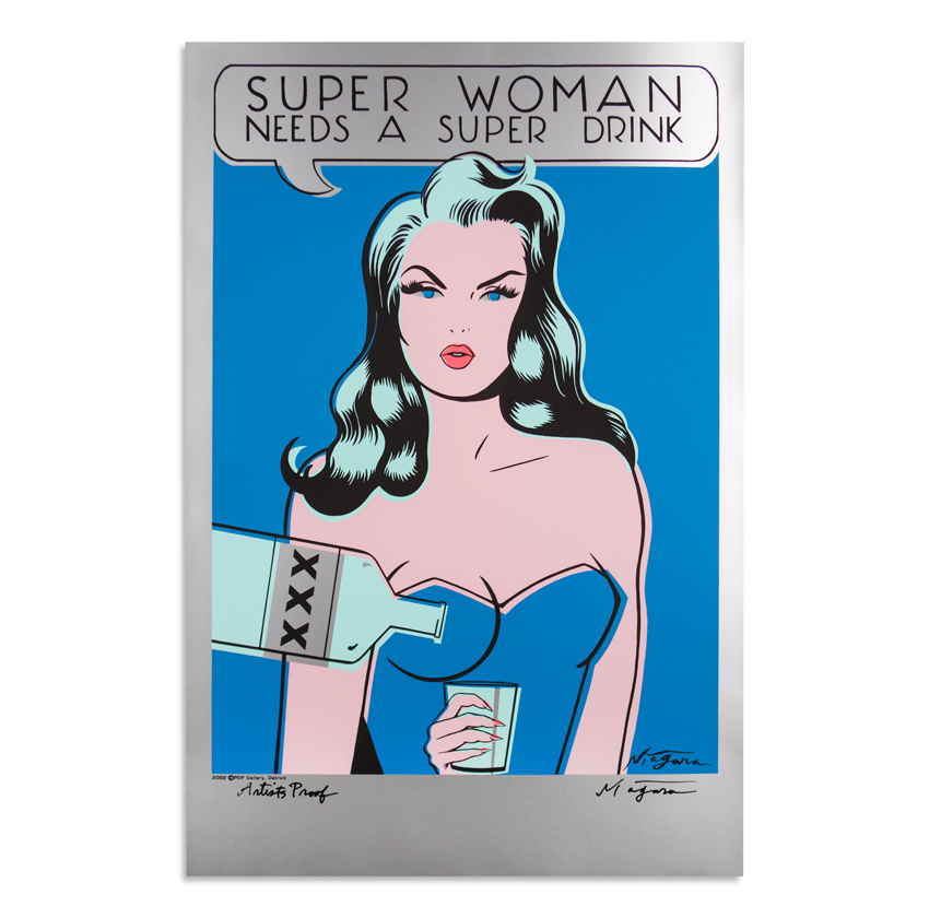 Niagara Art - Super Woman Needs A Super Drink - Silver