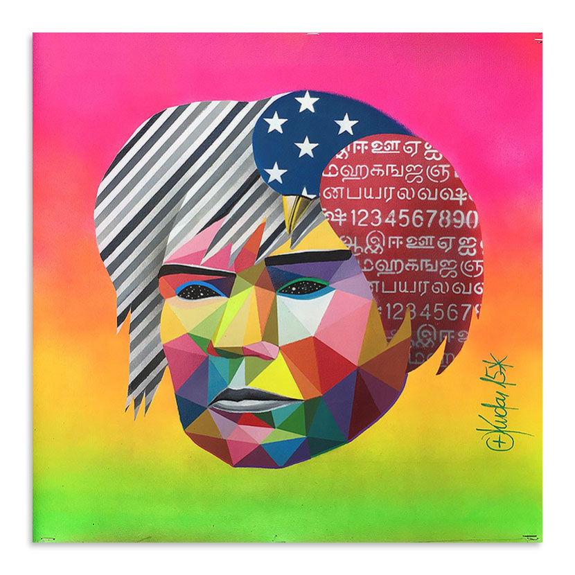 Okuda Original Art - Andy Mask