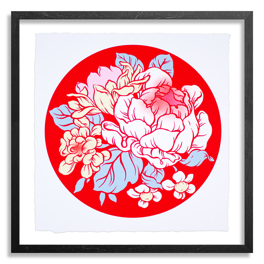 Ouizi Art Print - Lucky Garden - Red Edition