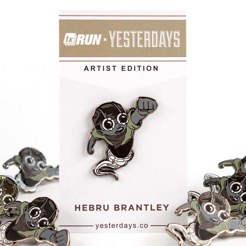 Hebru Brantley Art - Hebru Brantley - MITM 2016 Artist Edition Pin