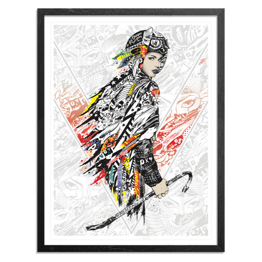 Prefab77 Art Print - White Line Fever - Red Variant
