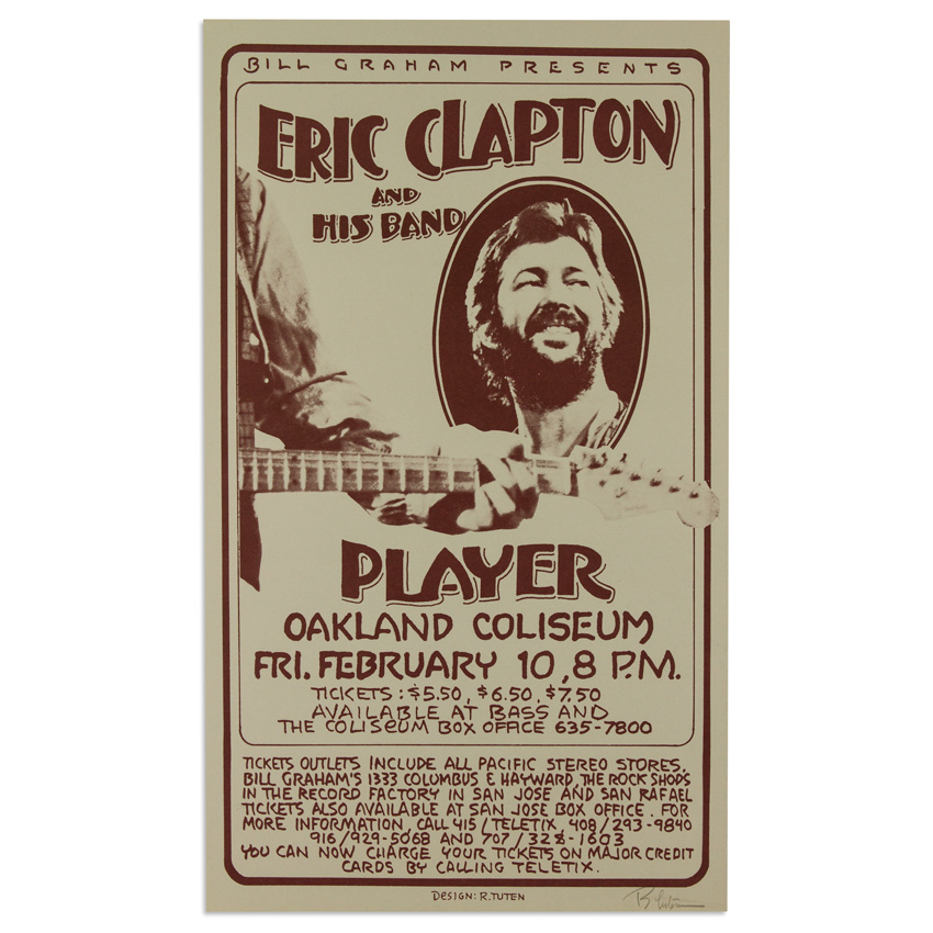 Randy Tuten Art - Eric Clapton and His Band at Oakland Coliseum - February