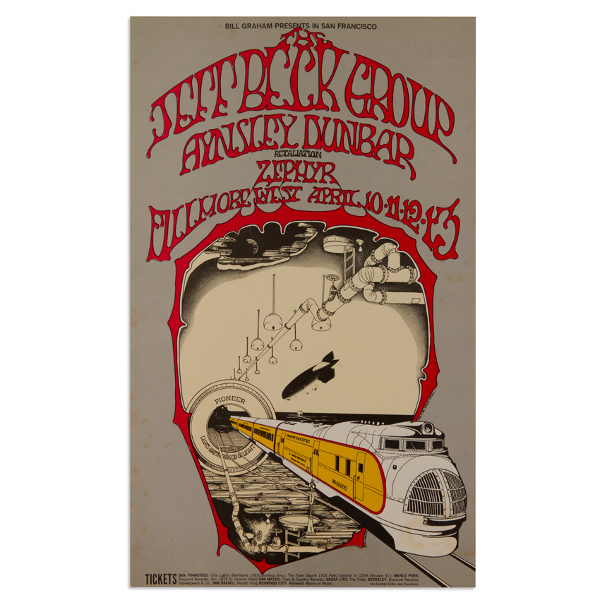 Randy Tuten Art - The Jeff Beck Group at Fillmore West - April 1969