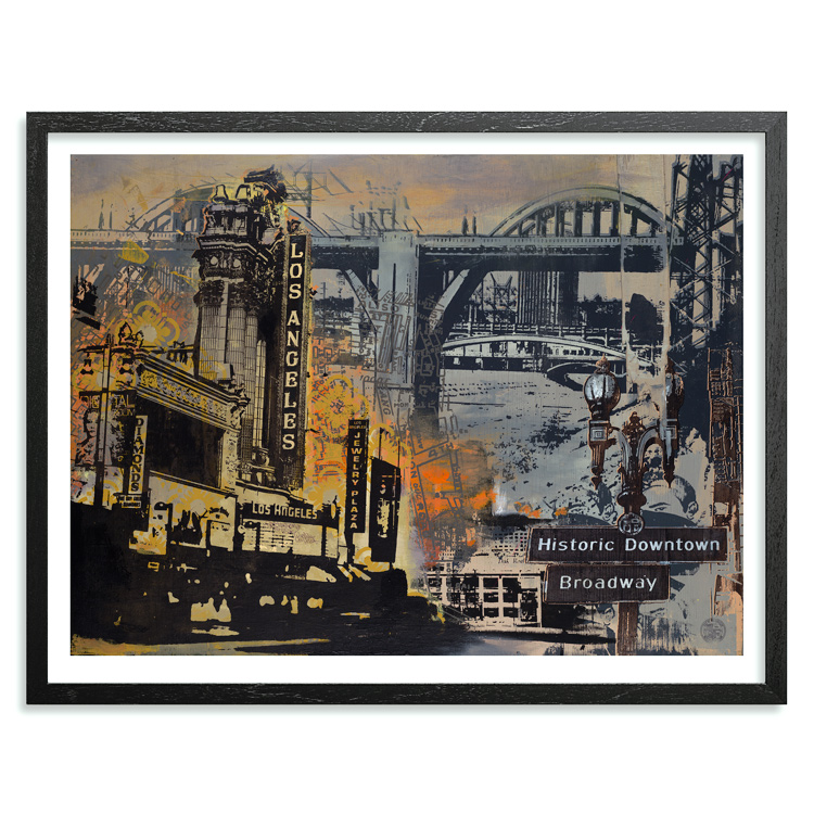 Ryan Graeff Art - Historic Downtown Los Angeles - Framed
