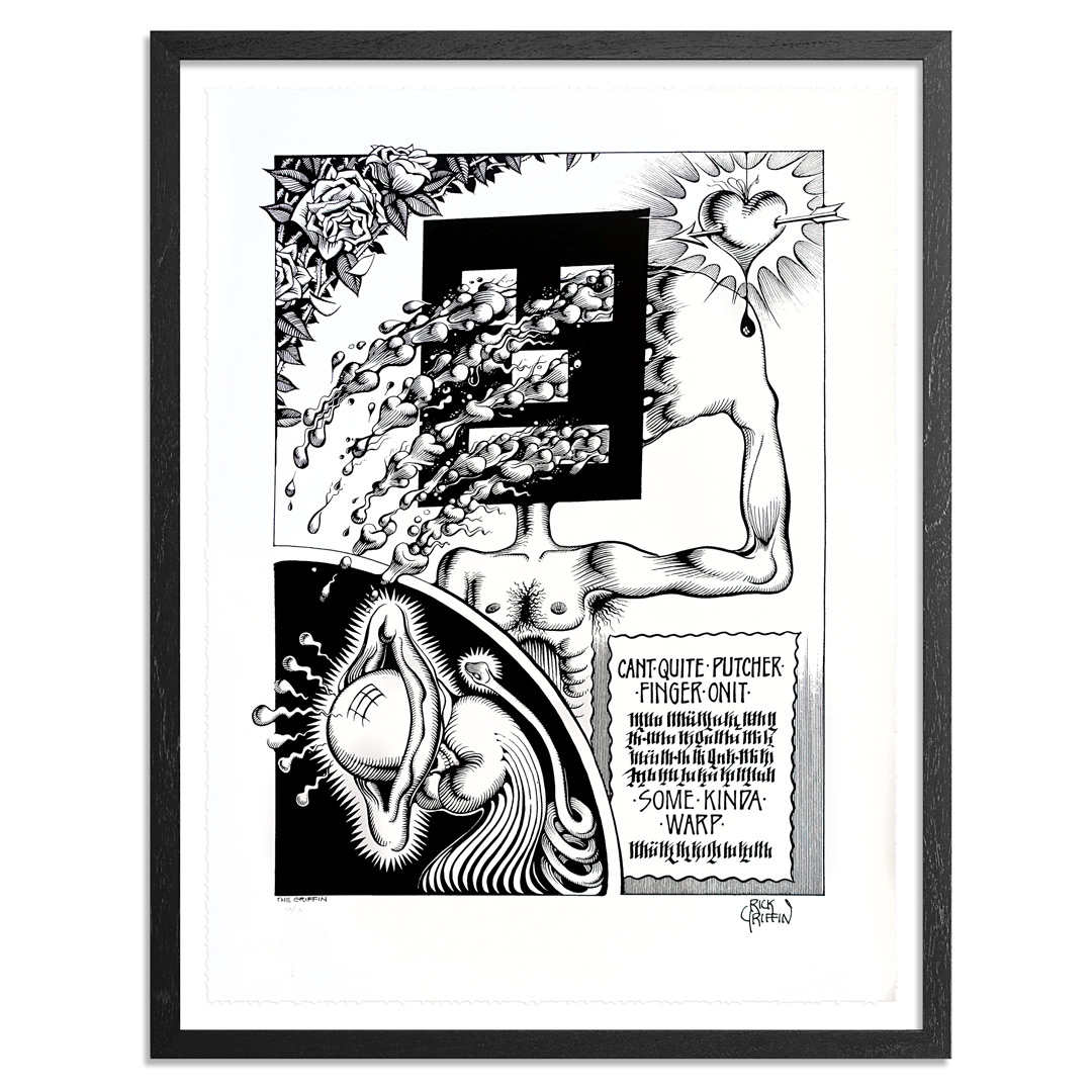 Rick Griffin Art Print - Can't Quite Putcher Finger Onit - Limited Edition Prints
