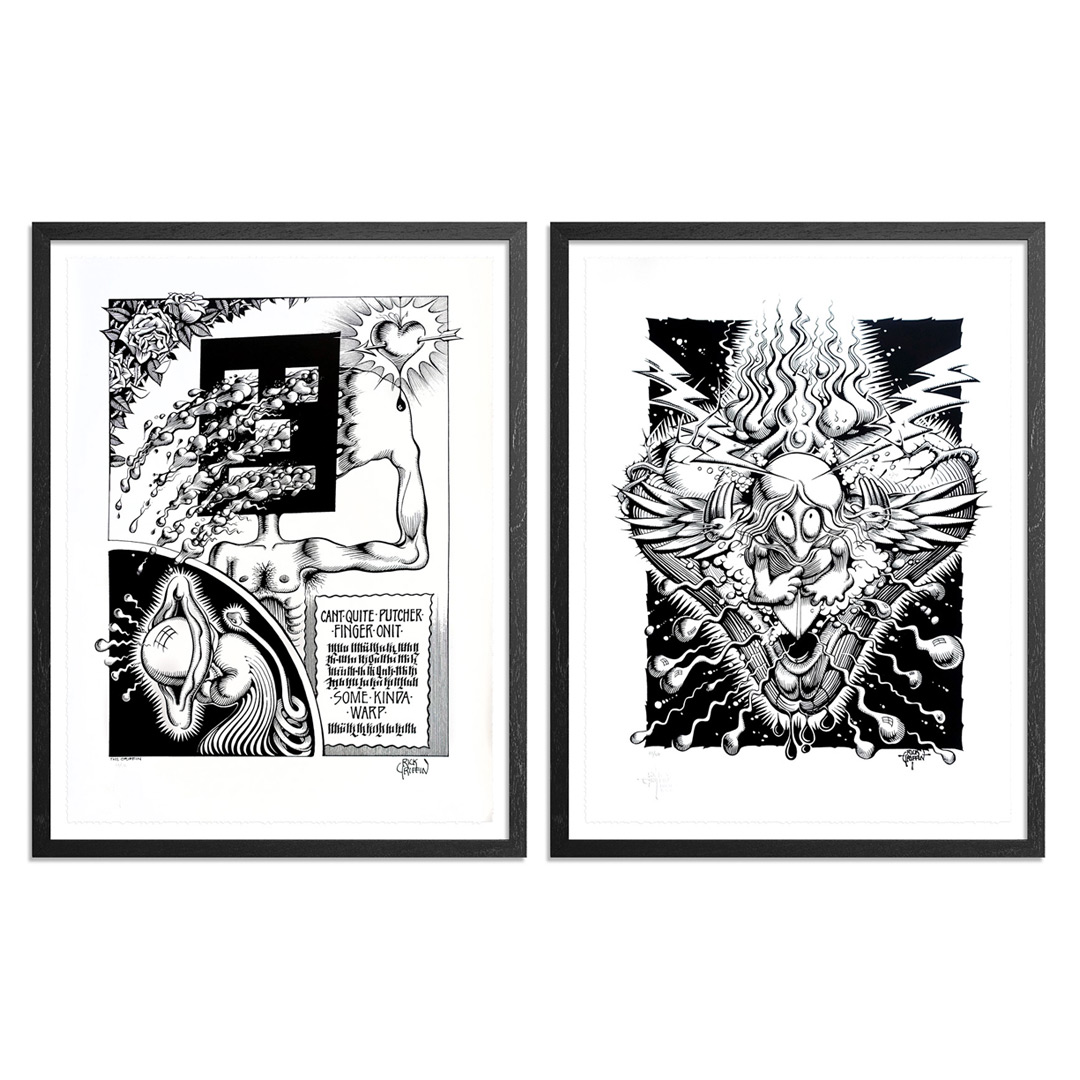 Rick Griffin Art Print - 2-Print Set - Can't Quite Putcher Finger Onit + Cosmic Surfer