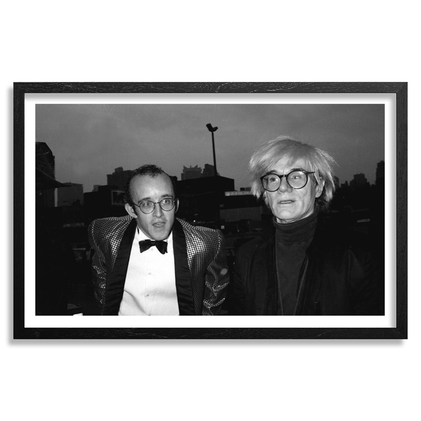 Ricky Powell Art Print - Keith Haring and His Idol Andy Warhol - Fine Art Paper Edition