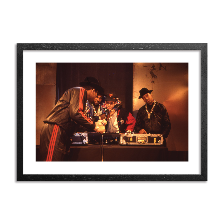 Ricky Powell Art - Ricky With Run DMC NYC 1987 - Limited Edition Prints
