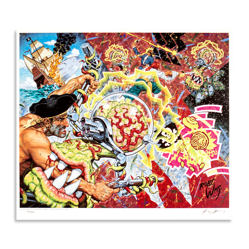 Robert Williams Art - Flying Saucer Attack On A Pirate Galleon