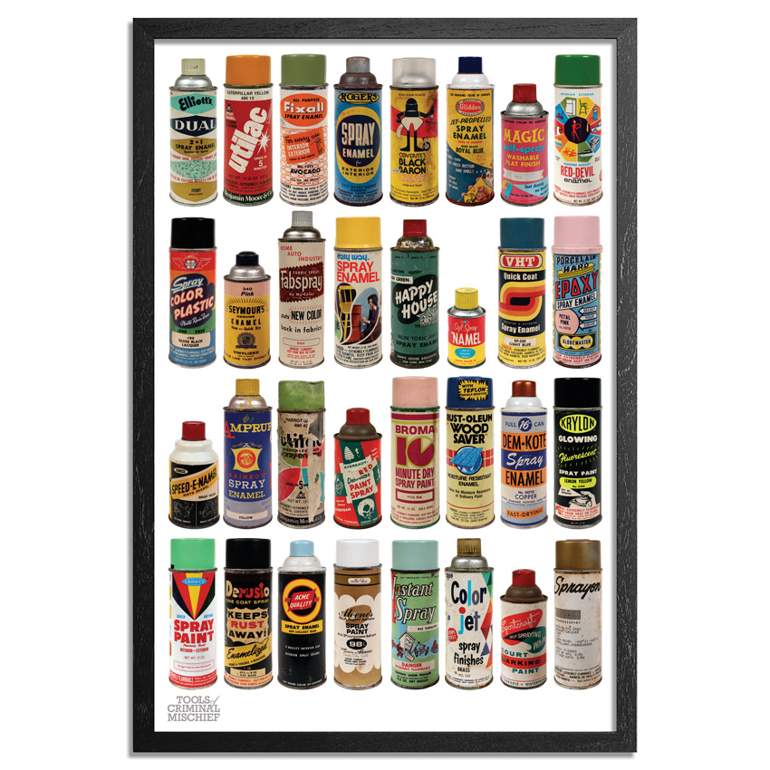 Roger Gastman Art Print - The Cans II - Original Tools of Criminal Mischief - MOCA Edition