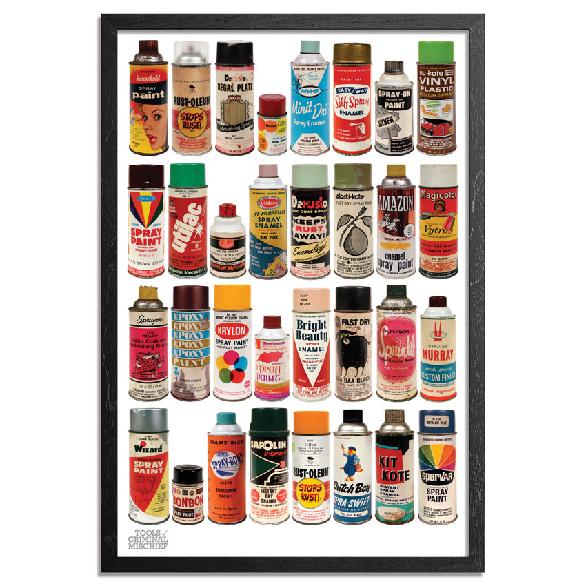 Roger Gastman Art Print - The Cans III - Original Tools of Criminal Mischief - MOCA Edition