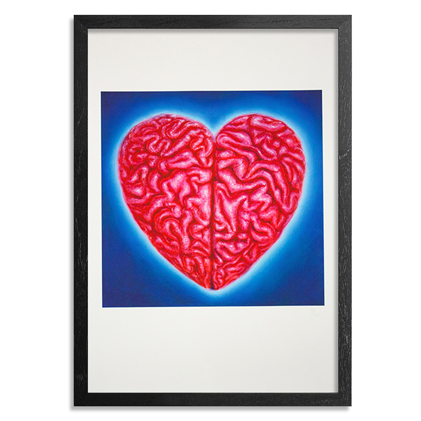The Heliotrope Foundation Art Print - Ron English - Heart Brain