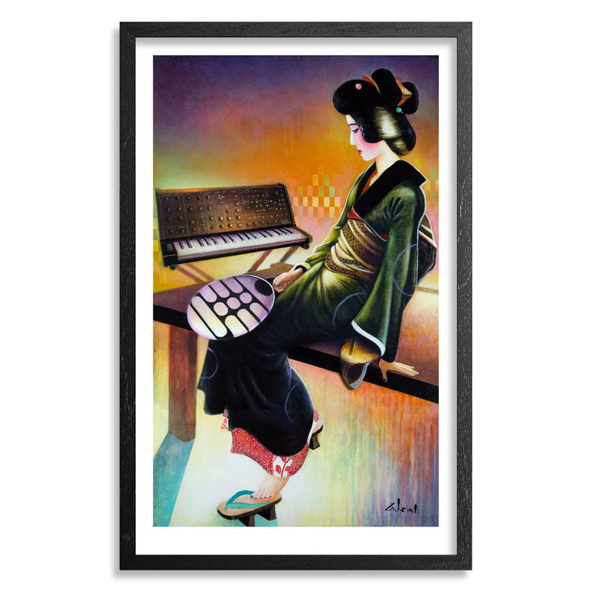 Ron Zakrin Art Print - Girl With Fan - Standard Edition