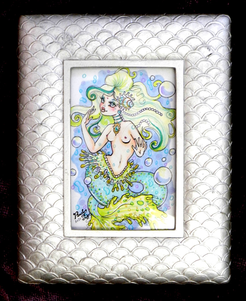 Rudy Fig Original Art - Singin' Sea Sister